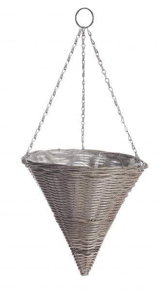 Suspension vase «Rattan Effect»