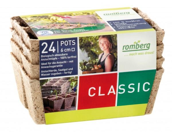 24 Pots biodégradables