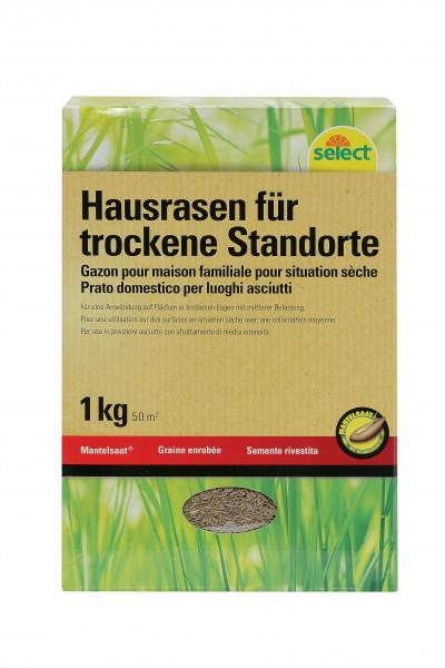 Gazon universel pour endroits secs, graine enrobées, 1 kg