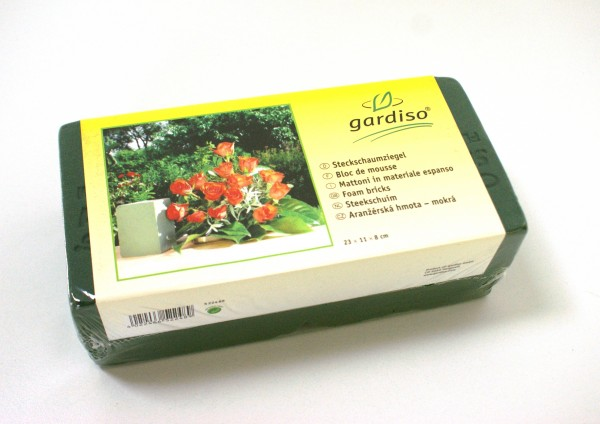 PF Steckziegel nass grün /Frischblumen